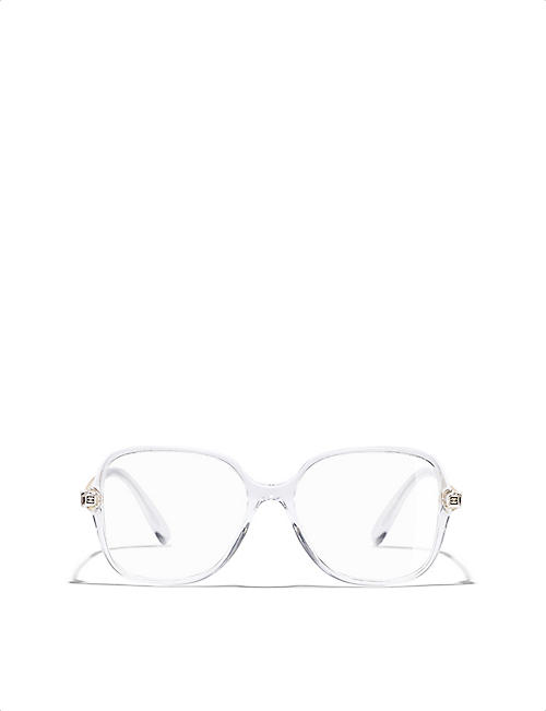 f33d1fbc98c8 CHANEL 0ch3382 clear square-frame glasses