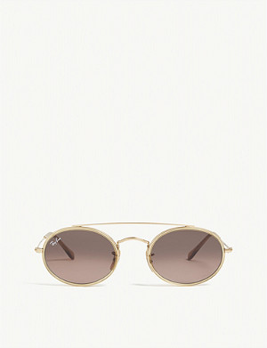 RAY-BAN Rb3847n oval-frame sunglasses
