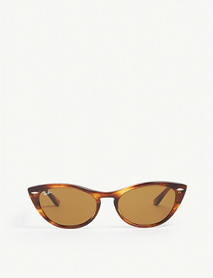 RAY-BAN RB4314 Nina cat-eye-frame Havana sunglasses