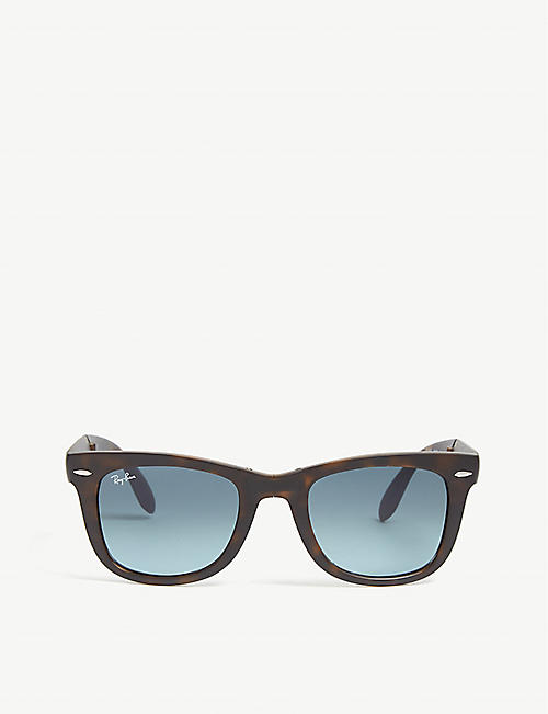 c3c028e8d8c66 RAY-BAN RB4105 foldable Wayfarer Havana sunglasses