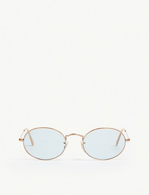 RAY-BAN Rb3547N oval-frame sunglasses