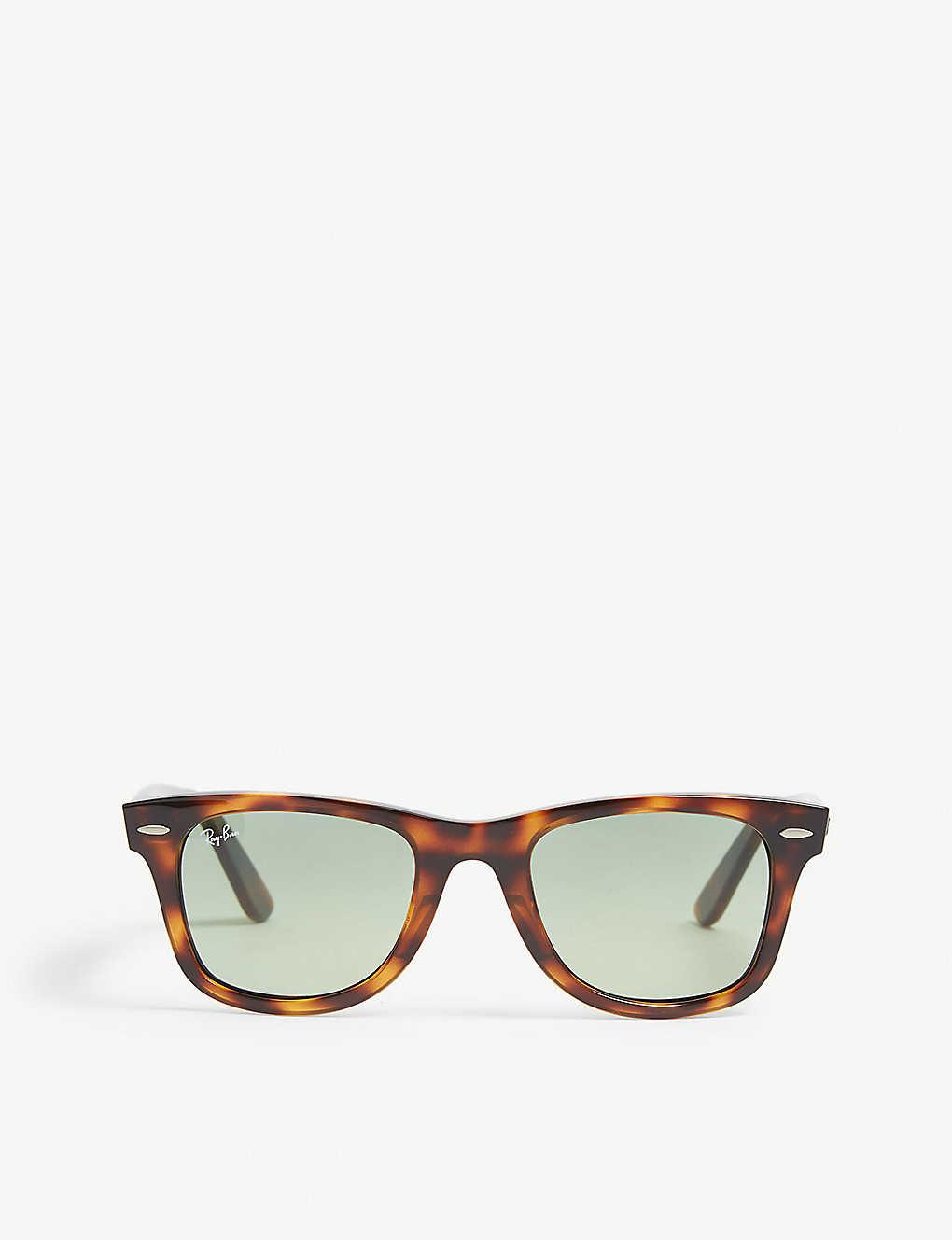 cc8a74fa448f RAY-BAN - RB4340 Wayfarer Havana sunglasses   Selfridges.com