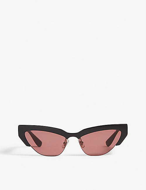 15b27ff1990 MIU MIU Mu 04US 59 cat eye-frame sunglasses