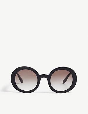 4036f9341ce1 MIU MIU - MU52Ss Butterfly frame half-rim sunglasses