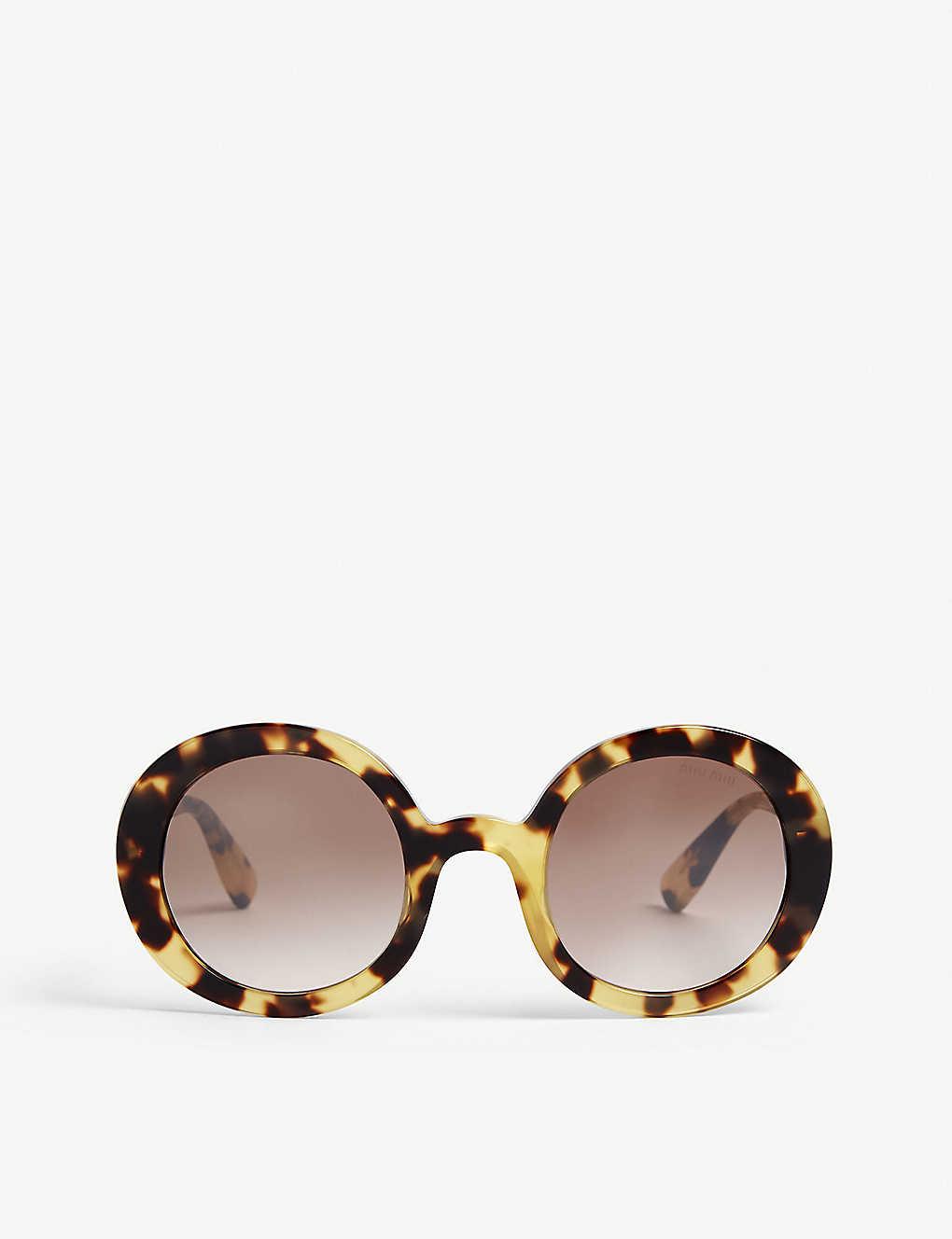 2250870717c9 MIU MIU - Havana round frame sunglasses | Selfridges.com