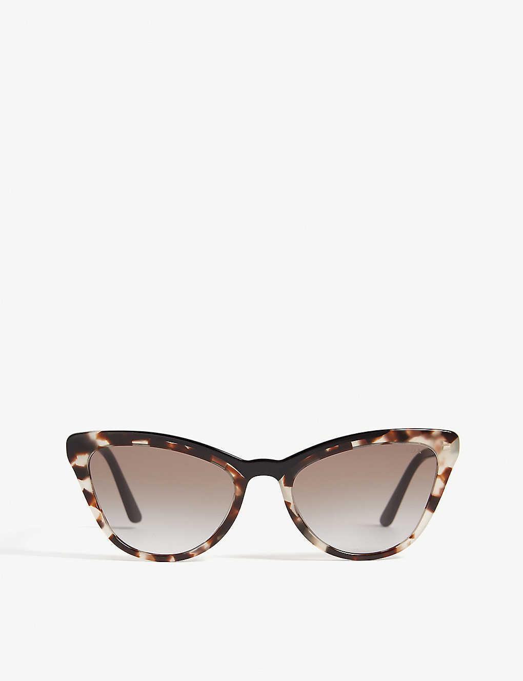 93790350f8 PR01V cat-eye-frame sunglasses - Brown ...