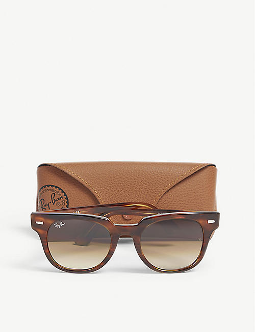 7fffdb5276 RAY-BAN RB2168 Meteor square-frame Havana sunglasses