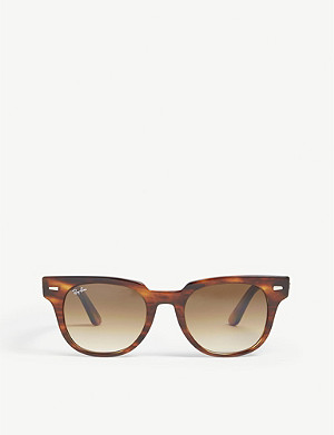 RAY-BAN RB2168 Meteor square-frame Havana sunglasses