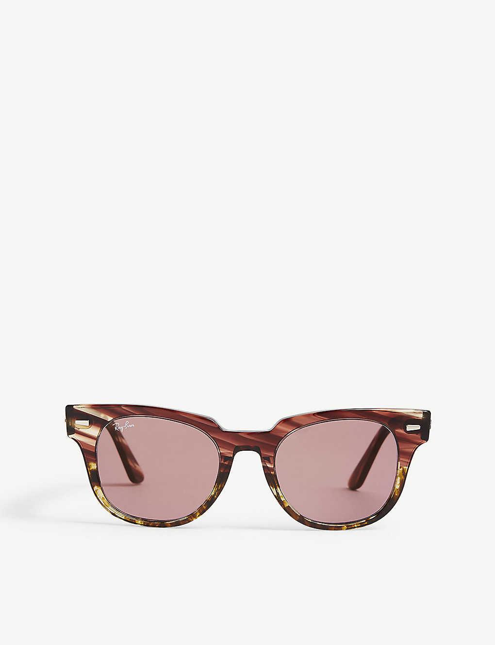babd3391990 RB2168 Meteor square-frame sunglasses - Pink gradient beige ...