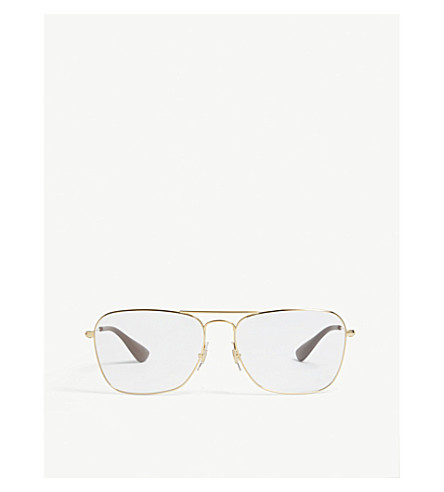 406facbf55 RAY-BAN RB3610V square-frame glasses (Gold