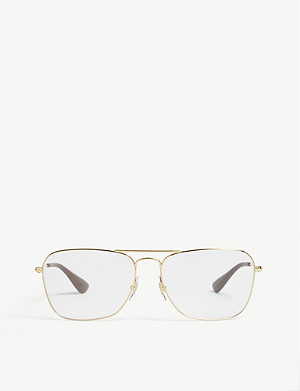 RAY-BAN RB3610V square-frame glasses