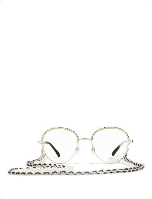 CHANEL Pantos gold-toned metal glasses