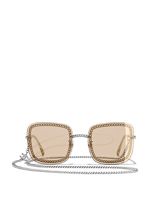 CHANEL CH4244 chain-trim tinted sunglasses