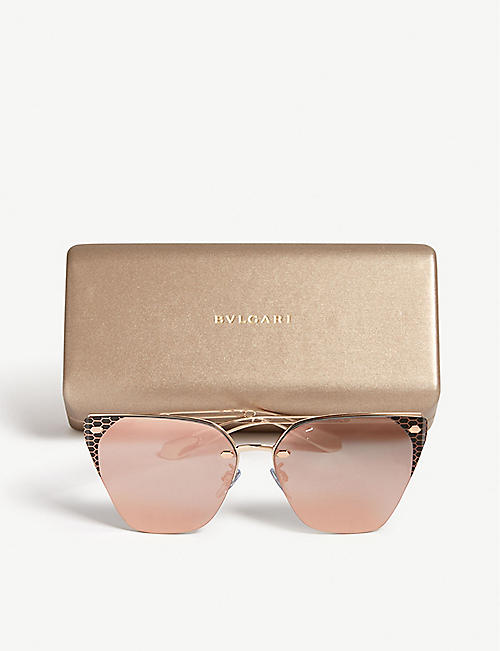 BVLGARI Bv6116 Serpenti cat eye-frame sunglasses