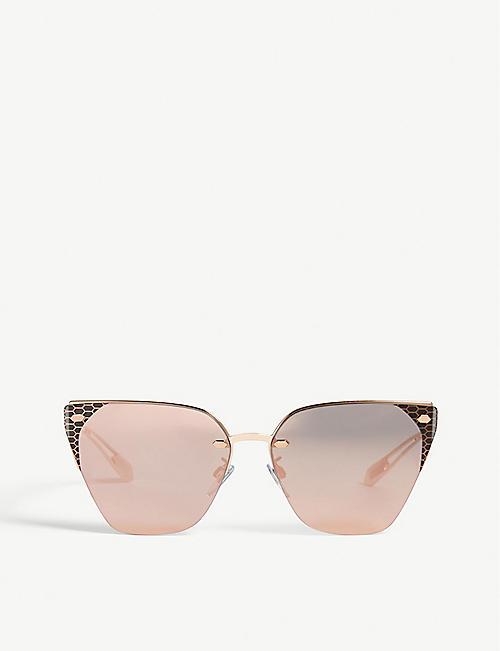50e166121ad BVLGARI Bv6116 Serpenti cat eye-frame sunglasses
