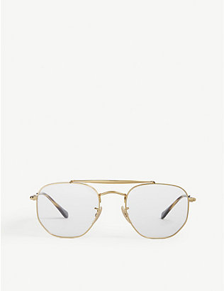 RAY-BAN: RB3648V pilot-frame sunglasses