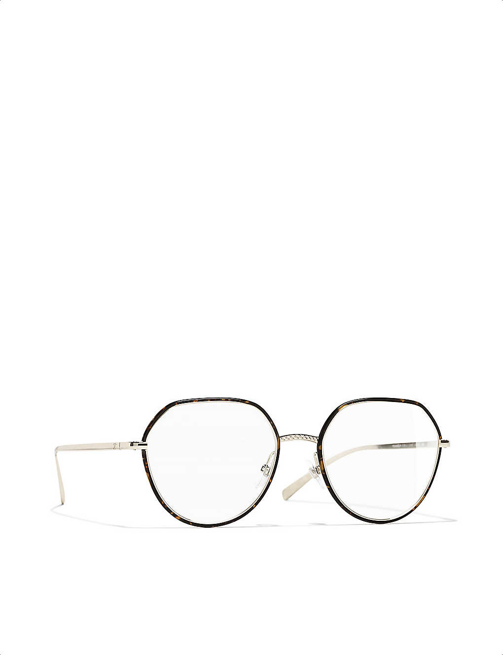 CHANEL: Irregular metal glasses