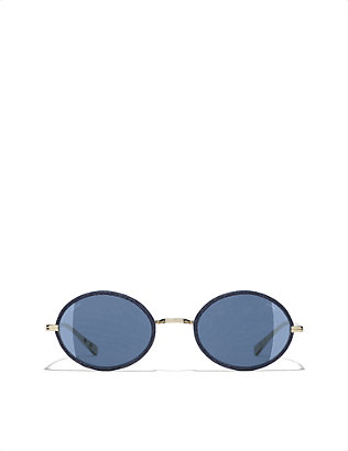 CHANEL: Oval sunglasses