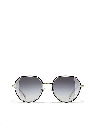 CHANEL: Round metal sunglasses