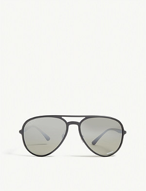 RAY-BAN RB4320 Chromance Aviator sunglasses