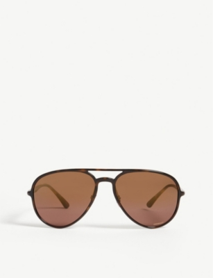 RAY-BAN RB4320 Chromance Aviator Havana sunglasses