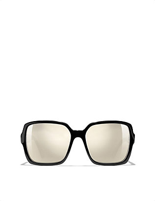 CHANEL: Ch5408 embellished square-frame sunglasses