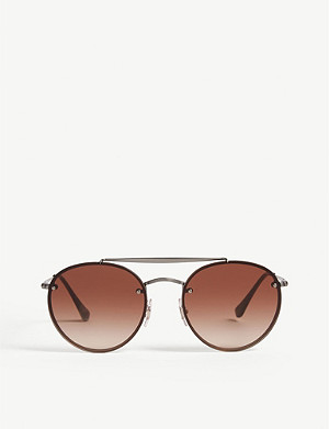 RAY-BAN RB3614 round-frame sunglasses