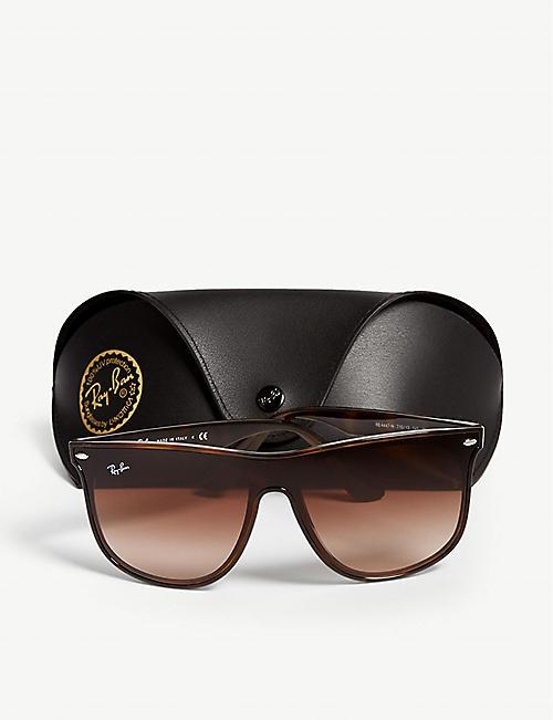 6a4efd58aaa RAY-BAN Rb447n tortoiseshell square-frame sunglasses