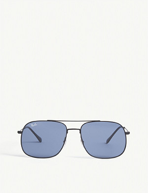 RAY-BAN RB3595 pilot-frame sunglasses