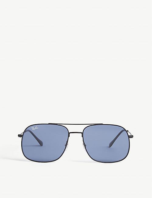 RAY-BAN: RB3595 pilot-frame sunglasses