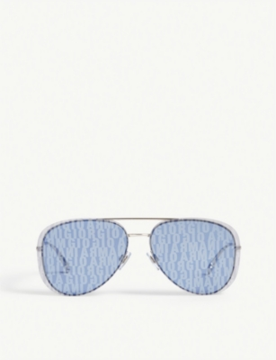 GIORGIO ARMANI AR6084 Aviator sunglasses with branded lenses