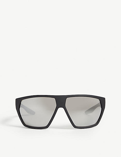 PRADA LINEA ROSSA: PS 08US Linea Rossa wrap-around acetate sunglasses