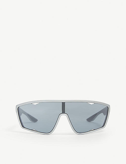 PRADA LINEA ROSSA: PS 09US 40 wrap sunglasses