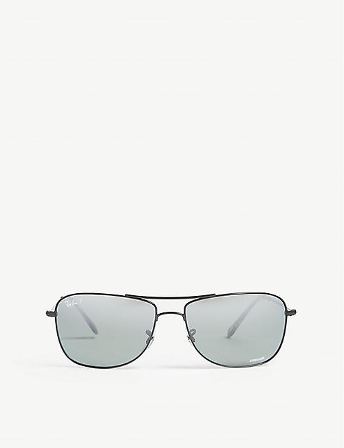 RAY-BAN: RB3543 Chromance square-frame sunglasses