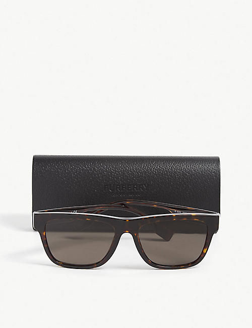 BURBERRY Be4293 rectangle-frame tortoiseshell sunglasses