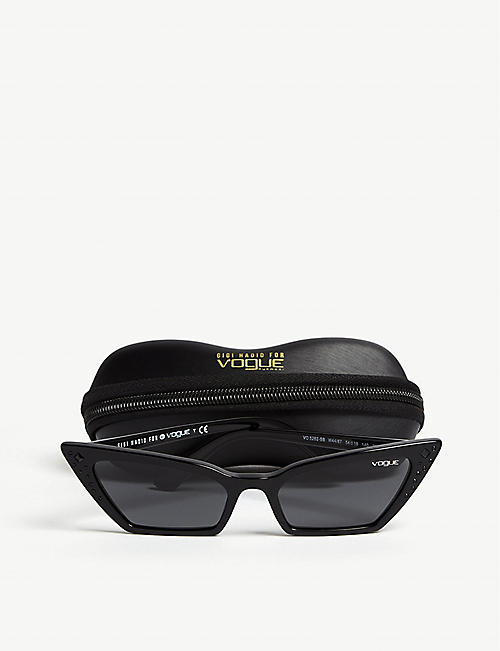 VOGUE Gigi Hadid Super cat-eye frame acetate sunglasses
