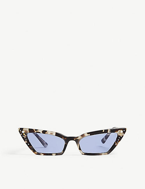 VOGUE Gigi Hadid Super cat-eye frame Havana acetate sunglasses