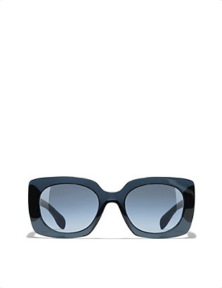 CHANEL: Square-frame acetate sunglasses