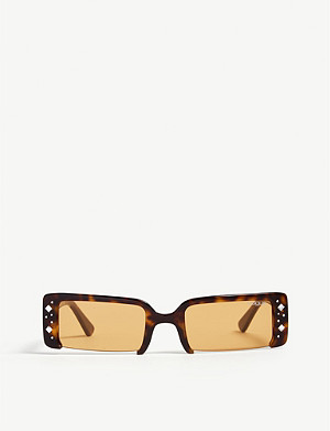 VOGUE Soho crystal-embellished rectangle-frame sunglasses