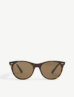 RAY-BAN RB2185 square-frame Havana sunglasses