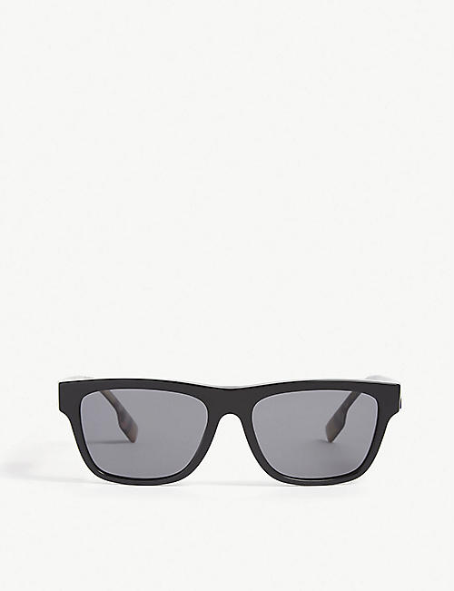 BURBERRY: Be4293 rectangle-frame polarised sunglasses