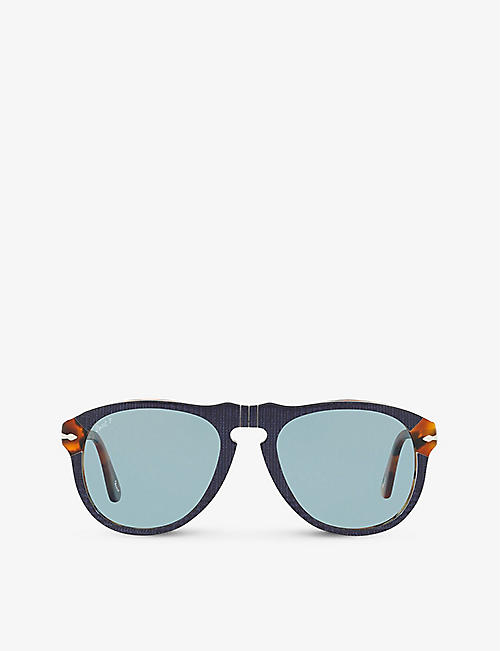 PERSOL: PO0649 acetate aviator sunglasses