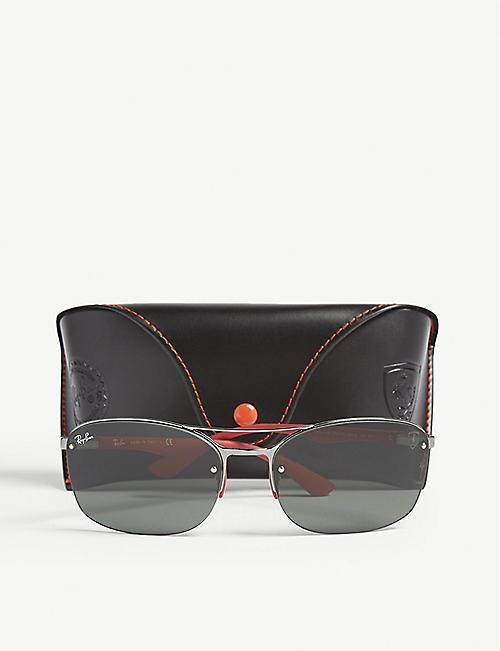57da550866 RAY-BAN RB3617 Scuderia Ferrari rectangle-frame sunglasses
