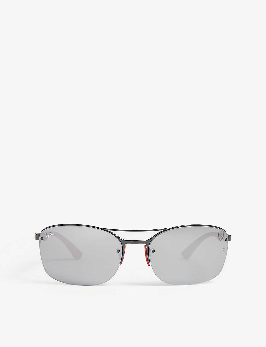 d18613e1483f RAY-BAN - RB3617 Scuderia Ferrari rectangle-frame sunglasses ...