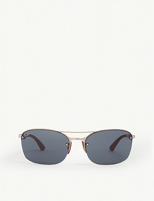 RAY-BAN RB3617 Scuderia Ferrari rectangle-frame sunglasses