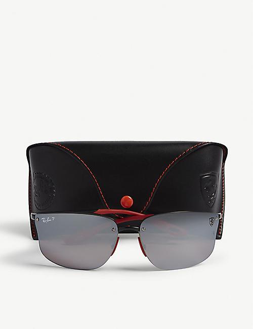 4f798c0344db RAY-BAN RB4322 Ferrari rectangle-frame sunglasses