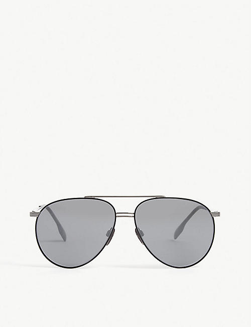 BURBERRY: B3108 pilot-frame sunglasses