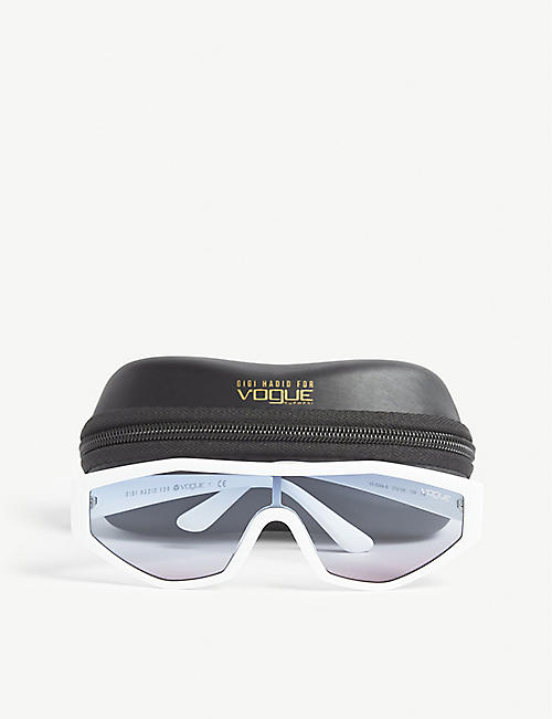 VOGUE Gigi Hadid Highline irregular-frame acetate sunglasses