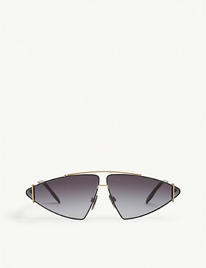 BURBERRY BE3111 irregular-frame sunglasses