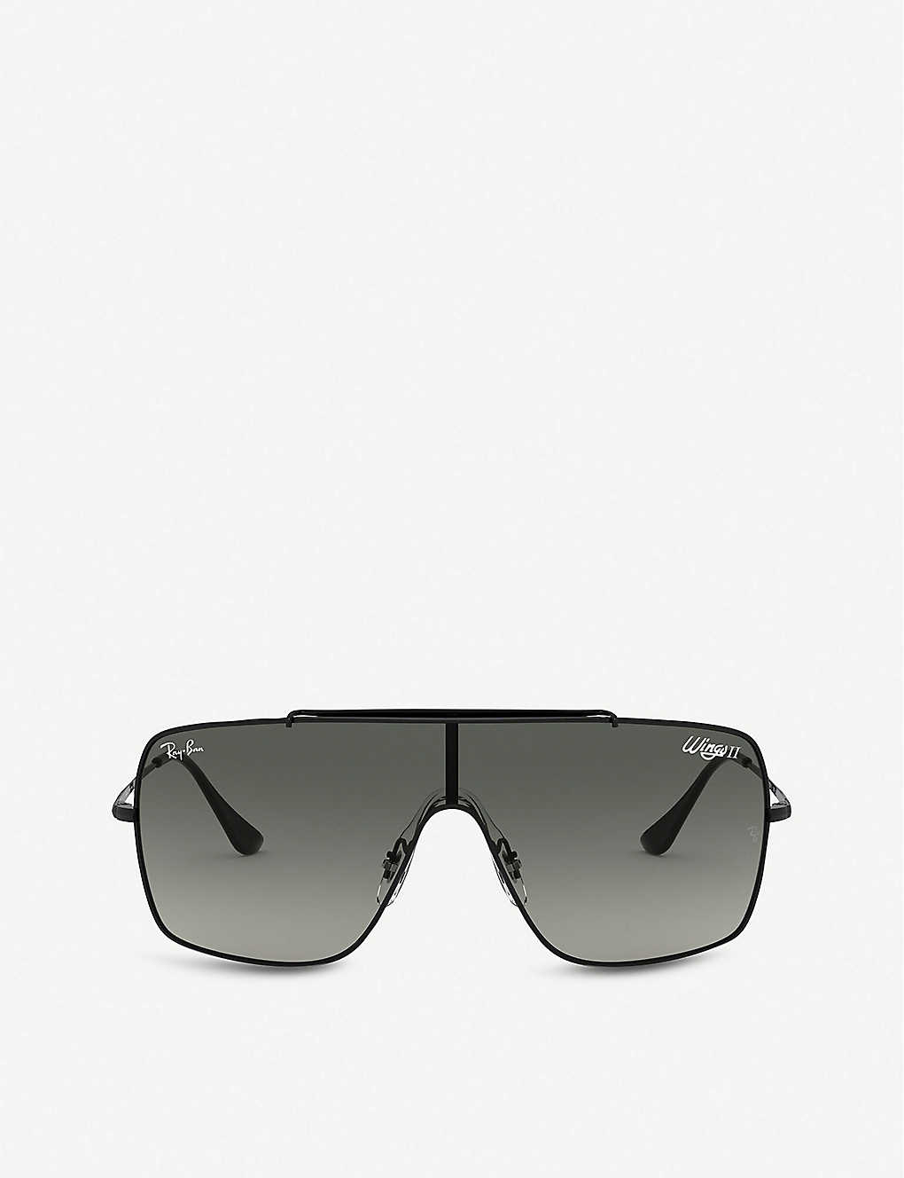 RAY-BAN: Wings II RB3597 metal square-frame sunglasses